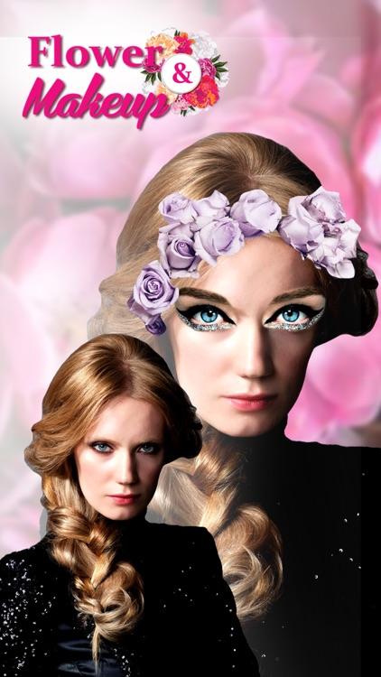 Flower Crown Style Pic Editor: Makeup & Hair Salon screenshot-4