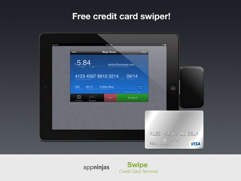 Screenshot of Swipe Credit Card Terminal