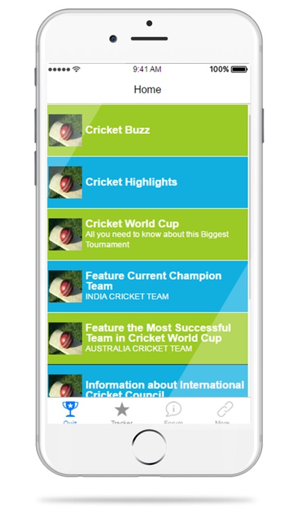 Cricket Quiz & Trivia - Feature Score Schedule Standing and Team News