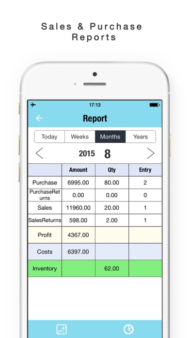 daily sales tracker sales items storage inventory app price drops