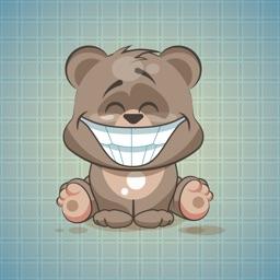 Sticker Me: Funny Bear