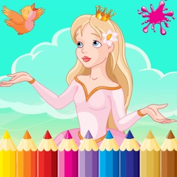 Princess & Prince Paint Draw Coloring Book For Kid