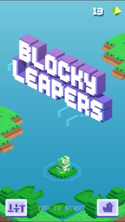 Blocky Leapers - Super Endless World Jumper screenshot-0