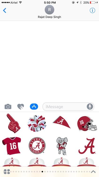 Alabama Football Stickers