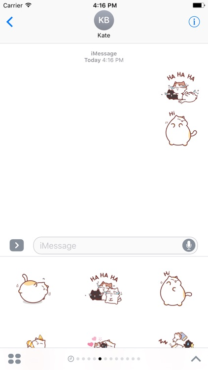 Animated Fluffy Cat Sticker