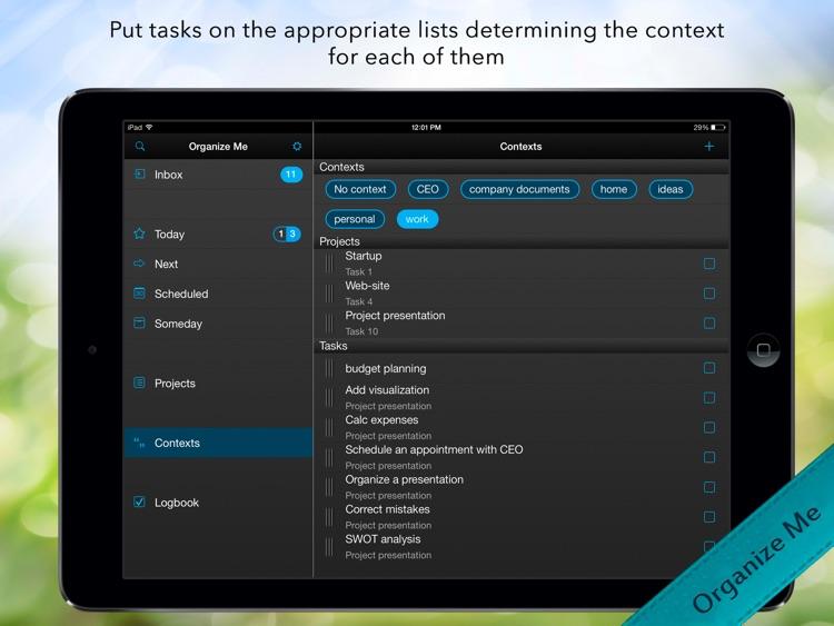 Organize Me for iPad screenshot-4
