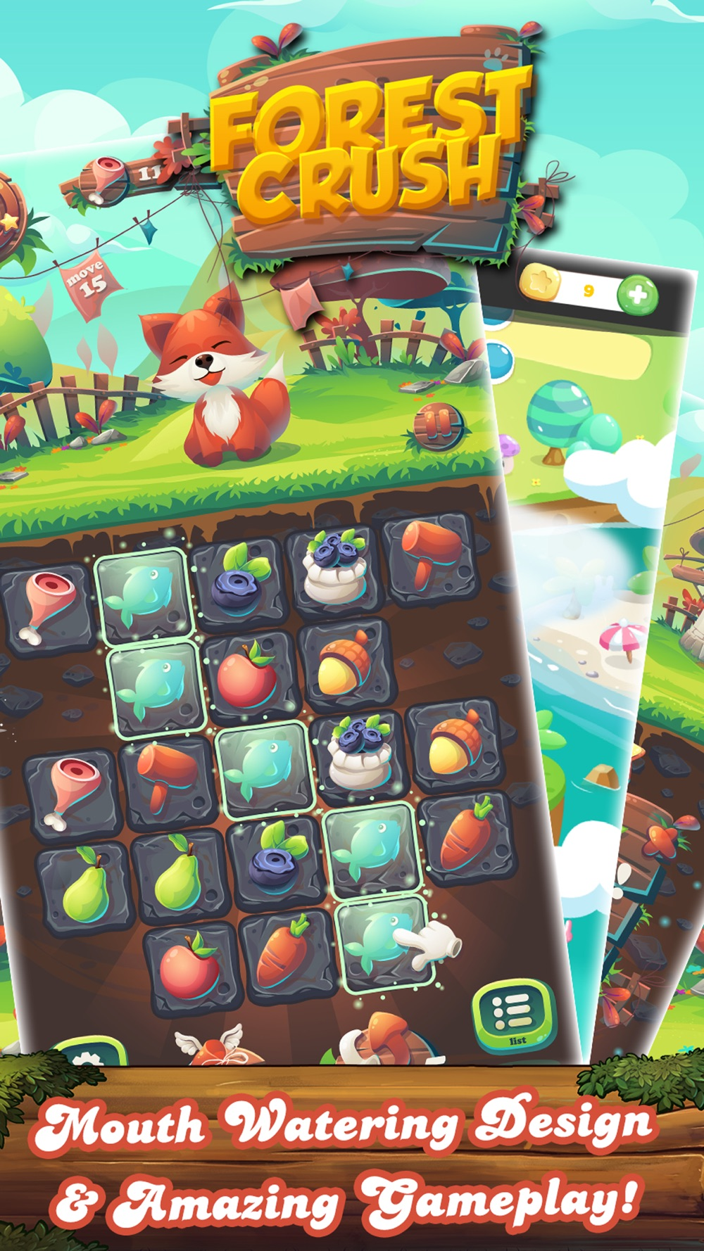 Forest Fruit Crush - Delicious Candy Line & Jelly hack tool