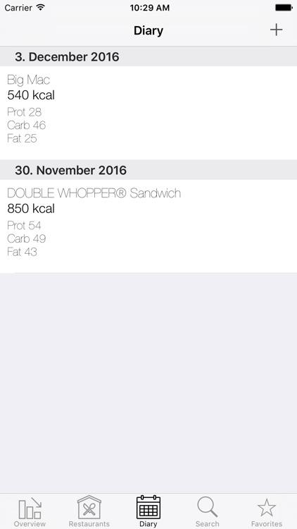 Fast|Food|Diary screenshot-3