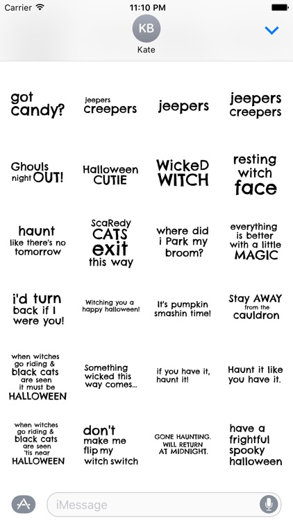 Say it on Halloween
