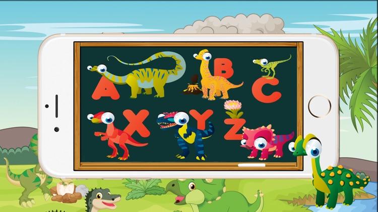 ABC Dinosaur Alphabet Tracing Flashcards for Kids