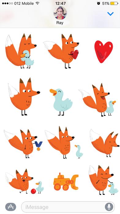 Fox &  Duck by The Catbears