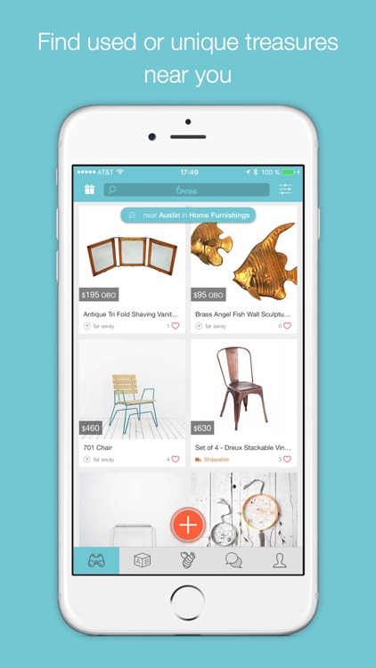 Trove Marketplace: Buy & Sell Local Used Furniture & Home Decor, and Resell Second Hand Stuff in Your Community. app image