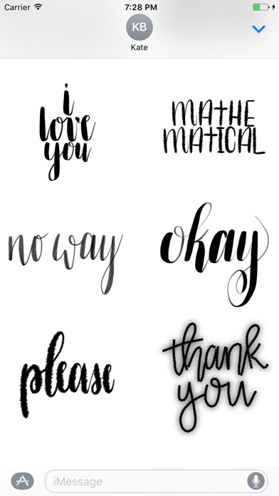 download Take Heart Calligraphy Stickers apps 1