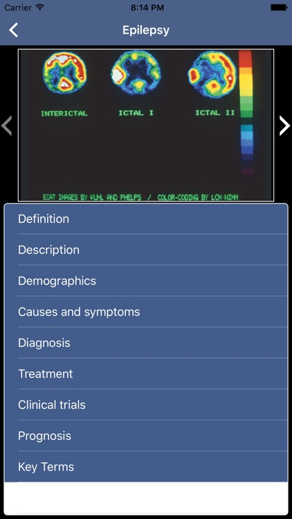 Dictionary of Neurological Disorders for iPhone