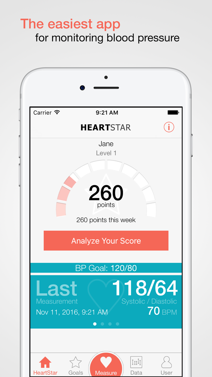 HeartStar BP Monitor Screenshot
