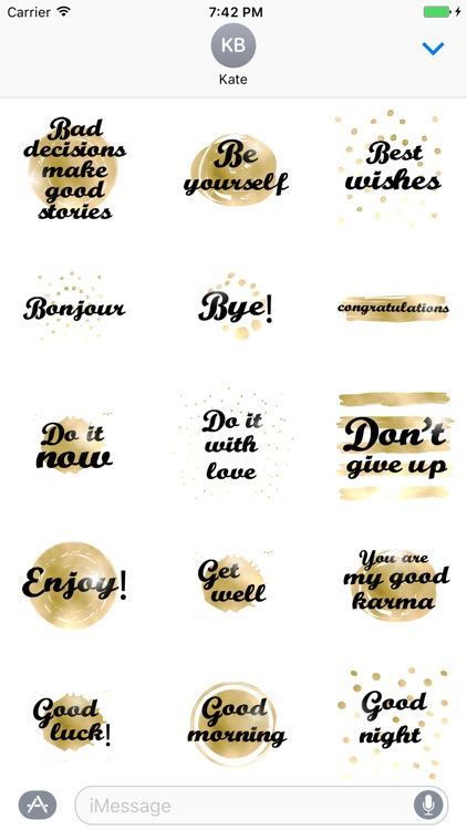 Think Positive animated Stickers
