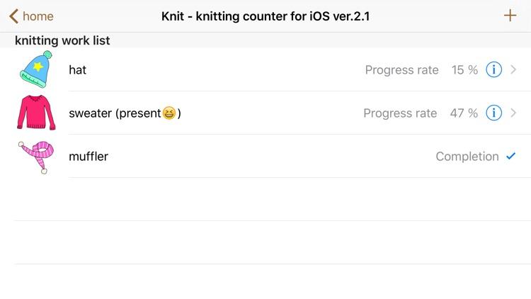 Knit - knitting counter