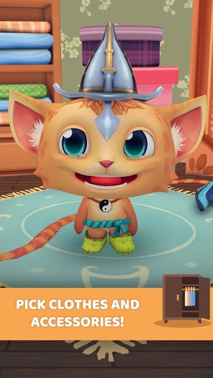 My talking Virtual Pet: Cat Care - Game for Kids