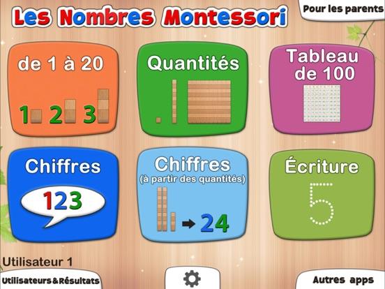 Les nombres Montessori