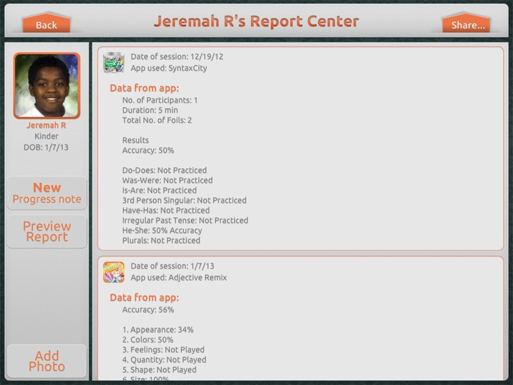 Therapy Report Center screenshot-3
