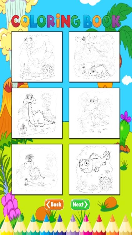 Dinosaur Coloring Book - For Kids screenshot-3