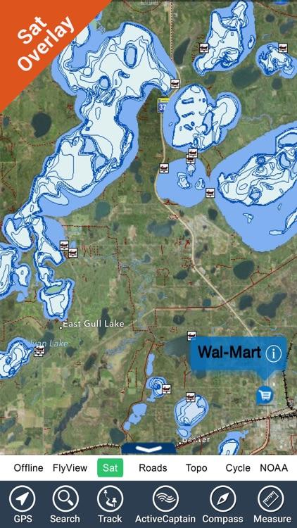 Fort Peck lake - Montana GPS HD fishing charts