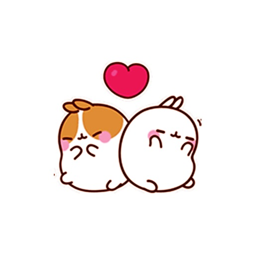 molang rabbit animated stickers and emoticons by kien nguyen