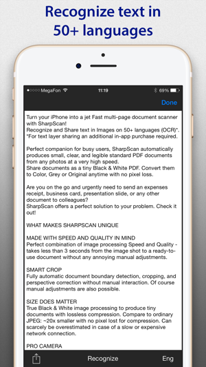 SharpScan: PDF scanner + OCR on the App Store