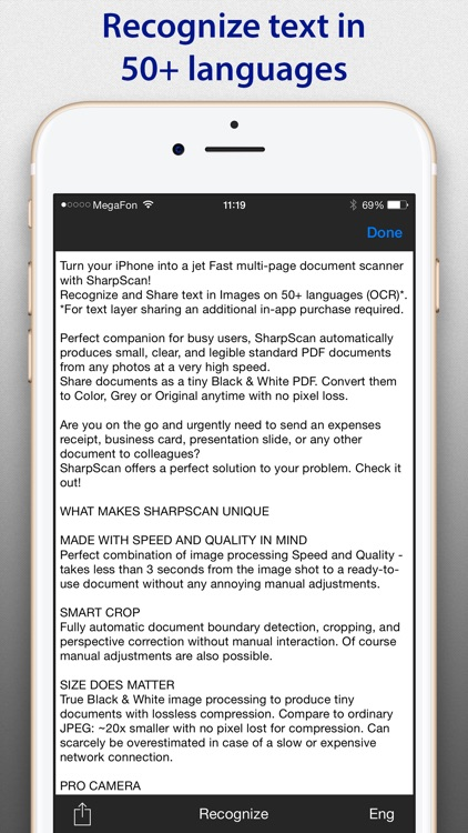 SharpScan: PDF scanner + OCR
