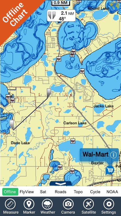 Michigan & Superior lakes charts GPS map Navigator