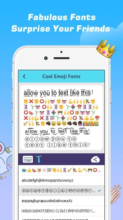 Emoji Free – Emoticons Art and Cool Fonts Keyboard screenshot-4