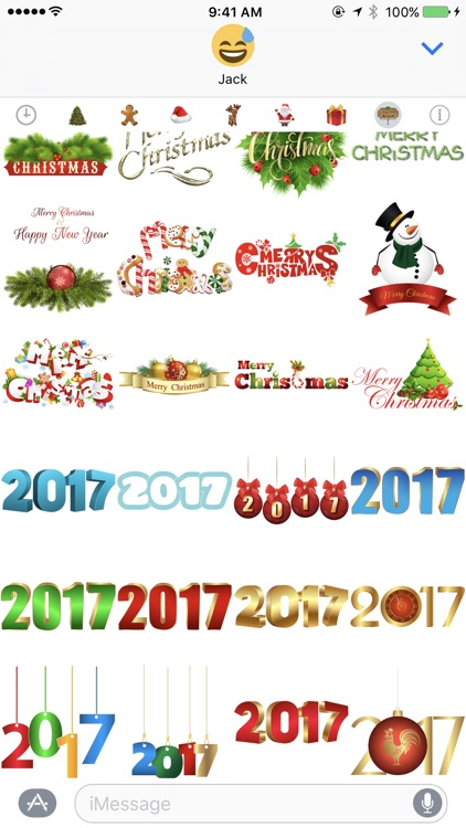 400+ Christmas Stickers screenshot-4
