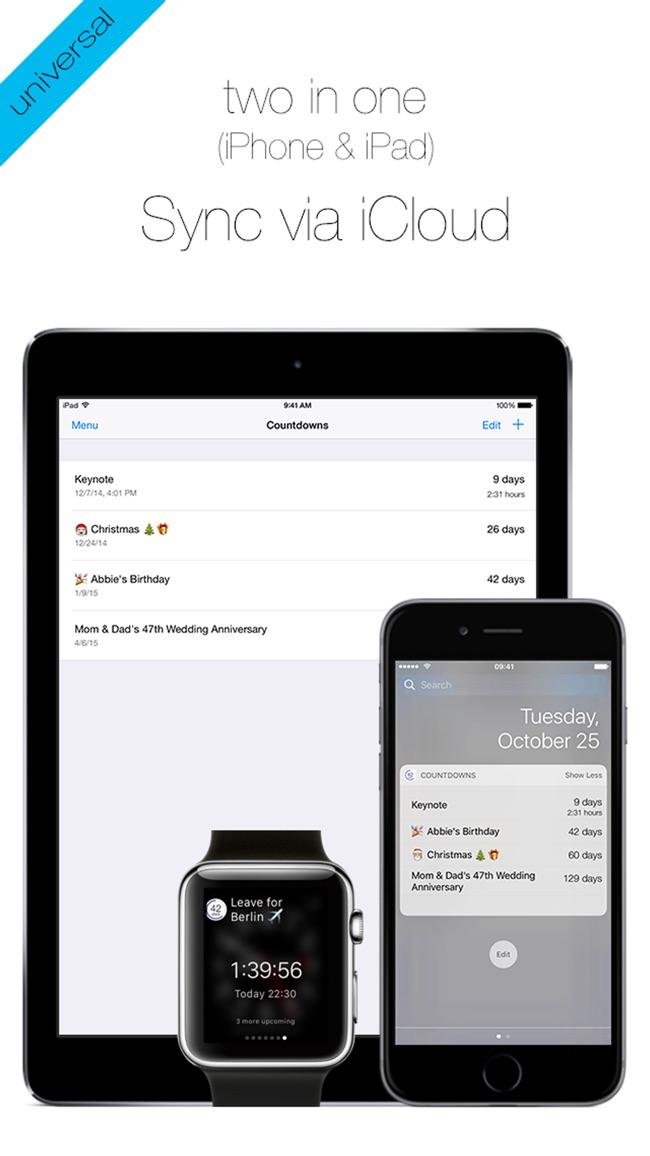 Countdowns - mit Widget Screenshot