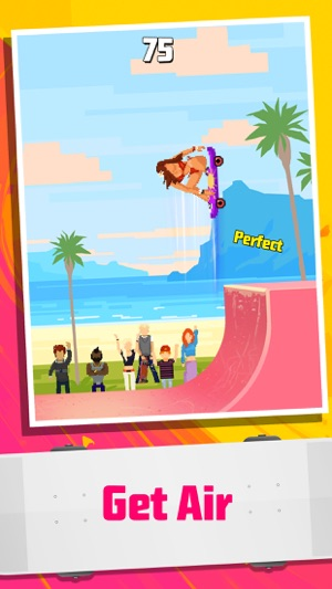 Halfpipe Hero - Retro Arcade Skateboarding Screenshot