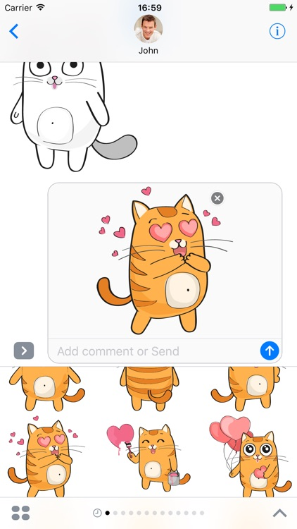 Cartoon Cats - Stickers for iMessage screenshot-3