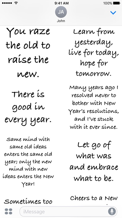 New Year Quotes - A to Z Stickers screenshot-3