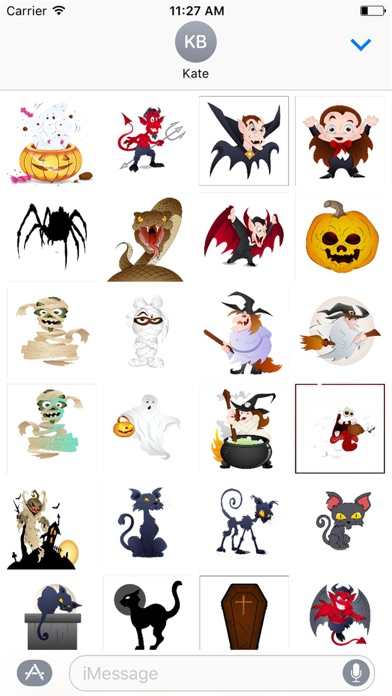 Halloween Stickers Spooky Edition screenshot two