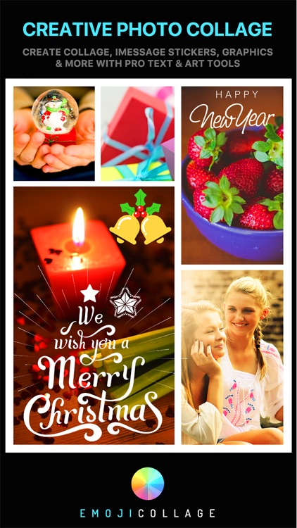 Emoji Collage Pro - Holiday Message Pic Stickers