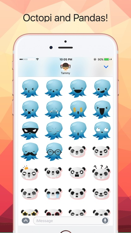 Fun Animals Sticker Pack with Emoji Faces
