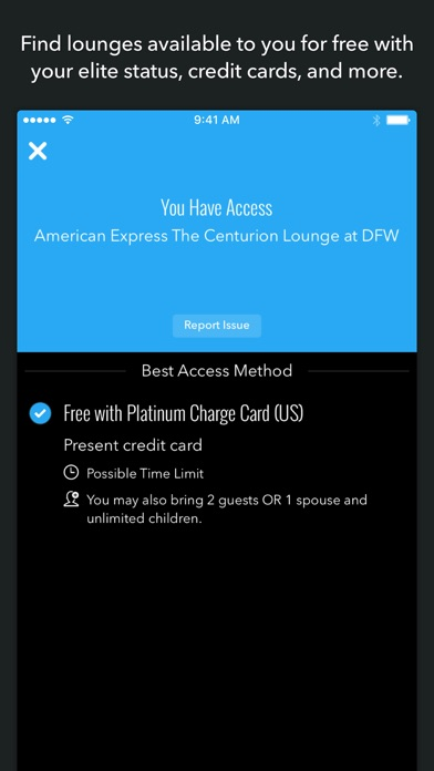 LoungeBuddy Lounge Access Screenshot