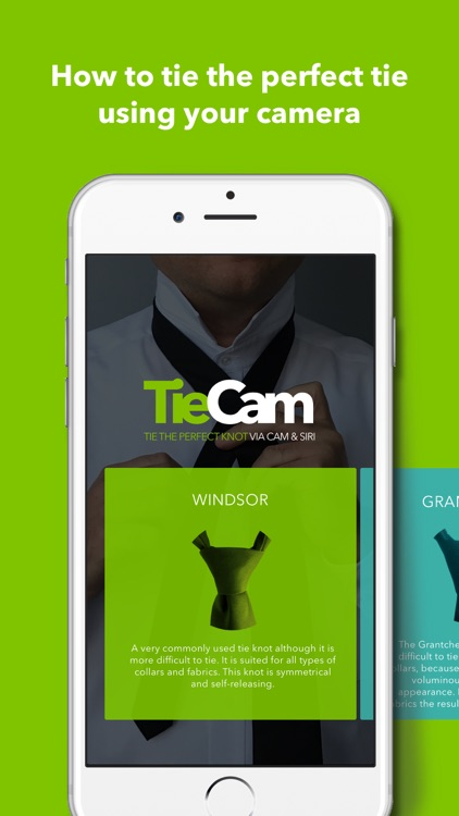TieCam - the perfect tie knot