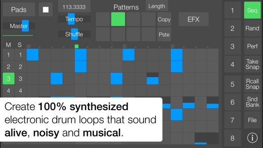 SeekBeats Drum Machine Synth Screenshot