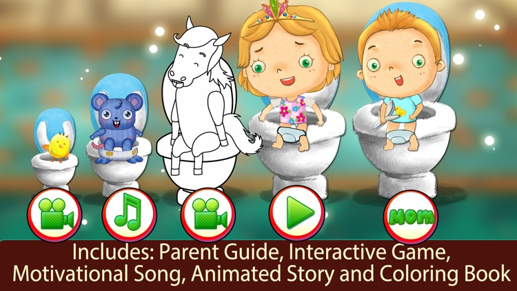 Potty Training Kids Learning With Animals App screenshot-3