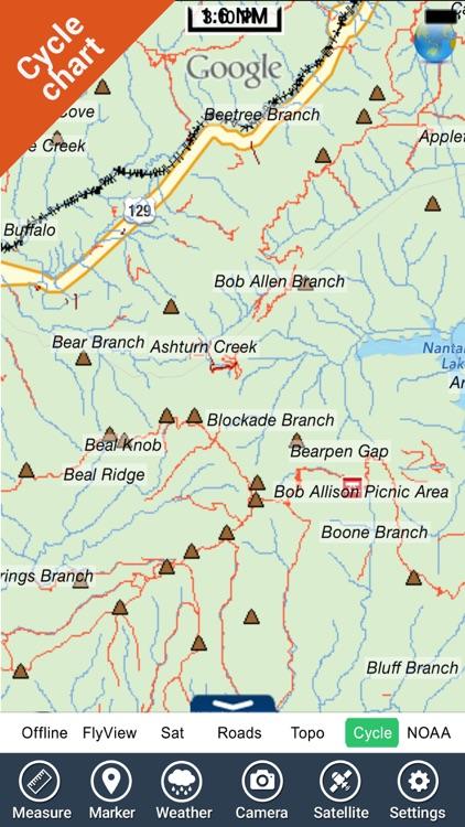 Nantahala National Forest gps outdoor map screenshot-4