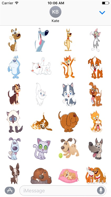 Cute Kitty and Puppy Stickers