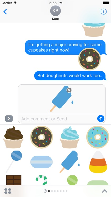 Sweets Sticker Pack for iMessage screenshot-4