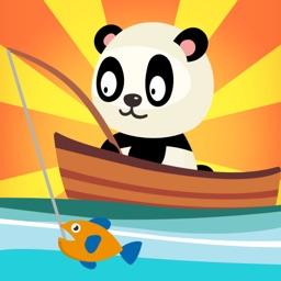 Panda fishing game for children age 2-5