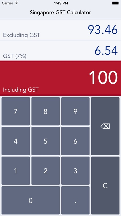 Singapore GST Calc - easy calculations of Singapore Goods and Services Tax