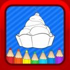アイスクリームの漫画キッズぬりえブック幼児用 icon