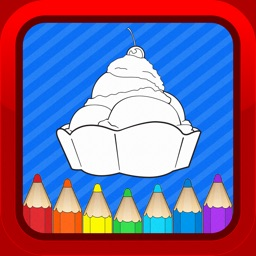 Ice Cream Cartoon Kids Coloring Books for Toddlers